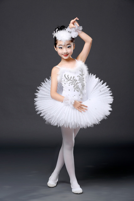 6049b6ebd New White Diamond Ballet Dress Children Swan Lake Ballet Costume ...