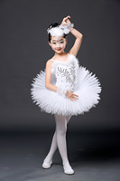 Nieuwe Witte Diamant Ballet Jurk Kinderen Zwanenmeer Ballet Kostuum Meisjes Tutu Ballet Turnpakje Dancewear Ballet Kostuums Kids