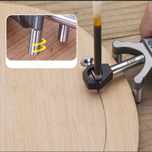 Carpenter Straight Line Arc Curve Scriber Parallel Measuring Tool Woodworking Dual-purpose  Drawing Square Marker