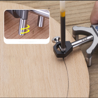 Carpenter Straight Line Arc Curve Scriber Parallel Measuring Tool Woodworking Dual purpose Drawing Line Square Marker
