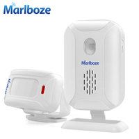 Marlboze Shop Store Home Entry Security Welcome Chime Doorbell Wireless Infrared IR Motion Sensor Welcome Device