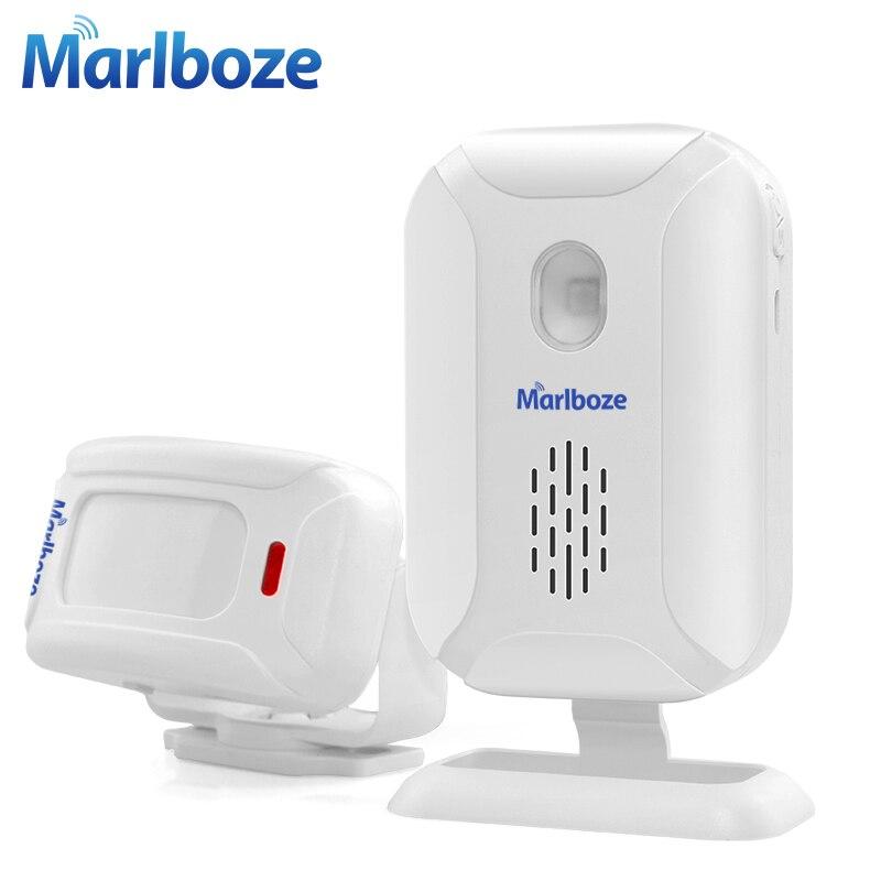 Marlboze tienda casa entrada seguridad bienvenida timbre inalámbrico infrarrojo IR Sensor de movimiento Bienvenido dispositivo timbre alarma