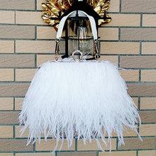 Bolsas bolsas femininas marcas famosas avestruz pena embreagem bolsas de luxo bolsas femininas designer corrente festa à noite saco de embreagem