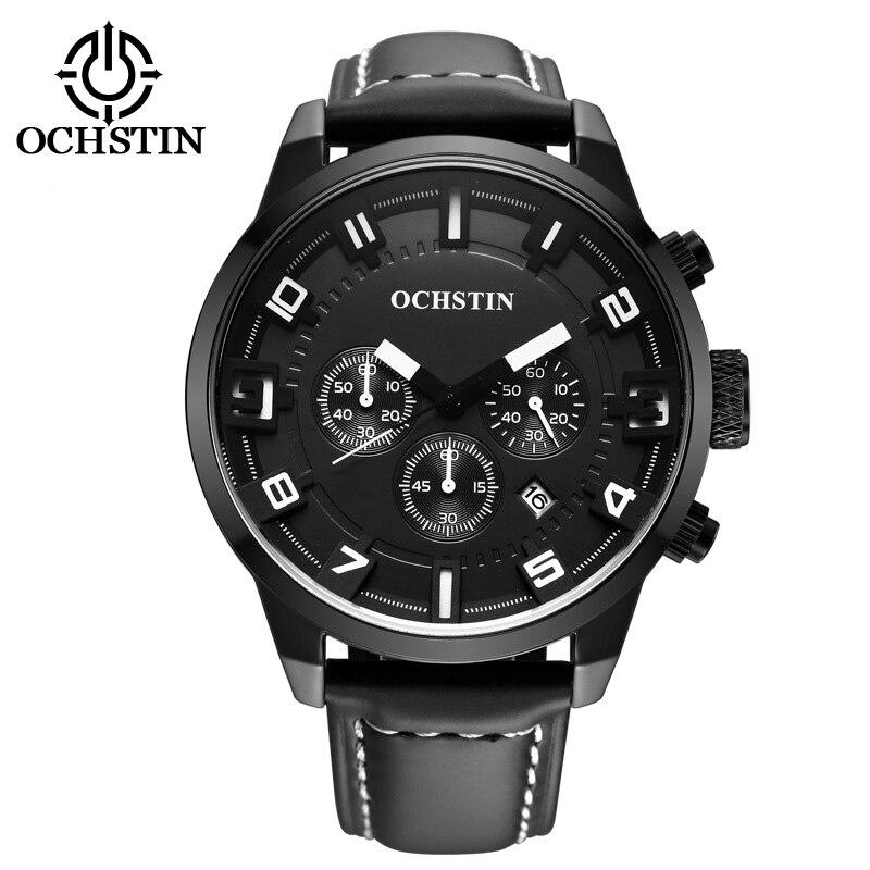 2016 Men Watch Luxury Top Brand business Male Clock Quartz Wrist Watch Leisure Fashion genuine Leather