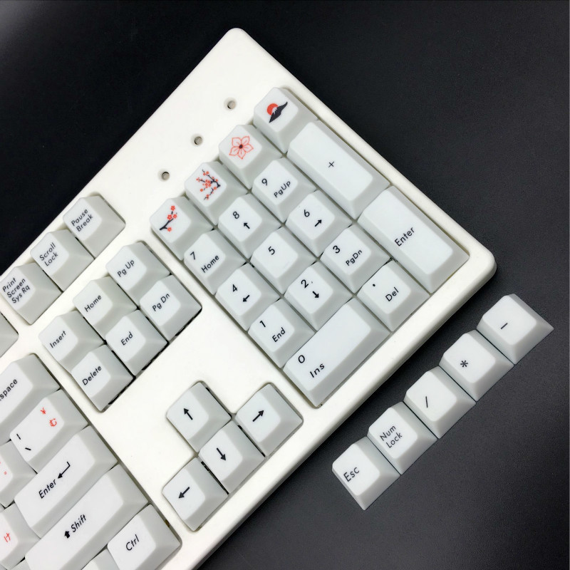 Keyboard keycaps 109-key//Set Keyboard Cover Personalized PBT Dye Sublimation Cherry Blossom Mechanical Keyboard Keycap