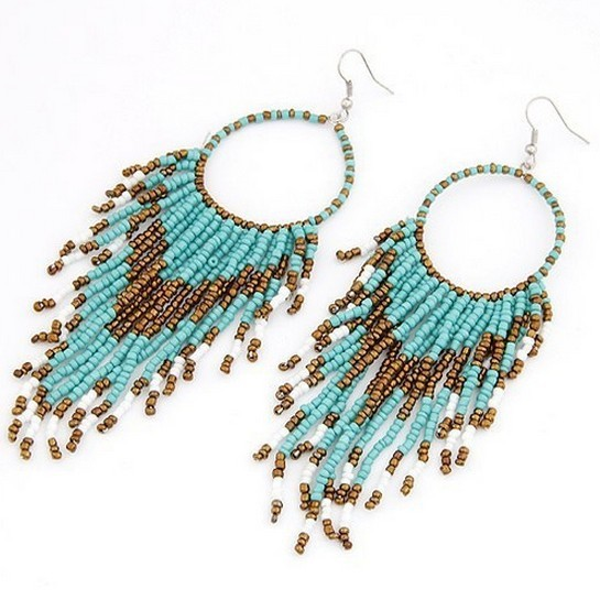 Supply 2013 the latest fashion Bohemian style small beads tassels earrings party