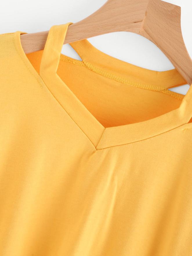 Fashion Womens Long Sleeve Sweatshirt V Neck Causal Tops T-shirt Female Autumn Women Mar 28