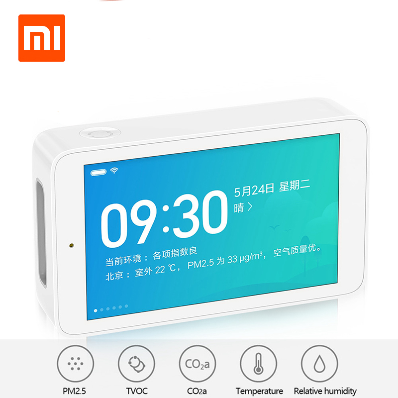 Xiaomi Mijia Air Detector High Precision Sensing 3 97Inch Touchscreen USB Interface Remote Monitoring PM2 5
