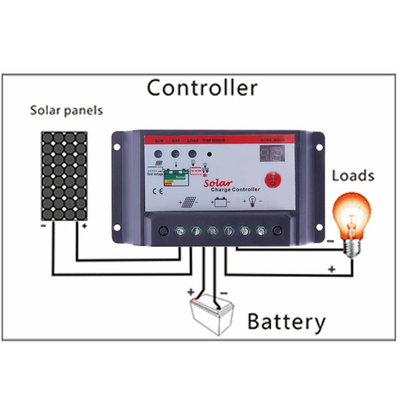 12V 24V Auto Switch Solar Panel Battery Charge Controller 10A/20A/30A Lamp Regulator Timer PWM pulse width modulation