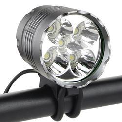 5 x XM-L T6 lampa przednia do roweru 6000 lumenów 5 LED światła rowerowe wodoodporna rower górski przedni lekka latarka czołowa akcesoria rowerowe