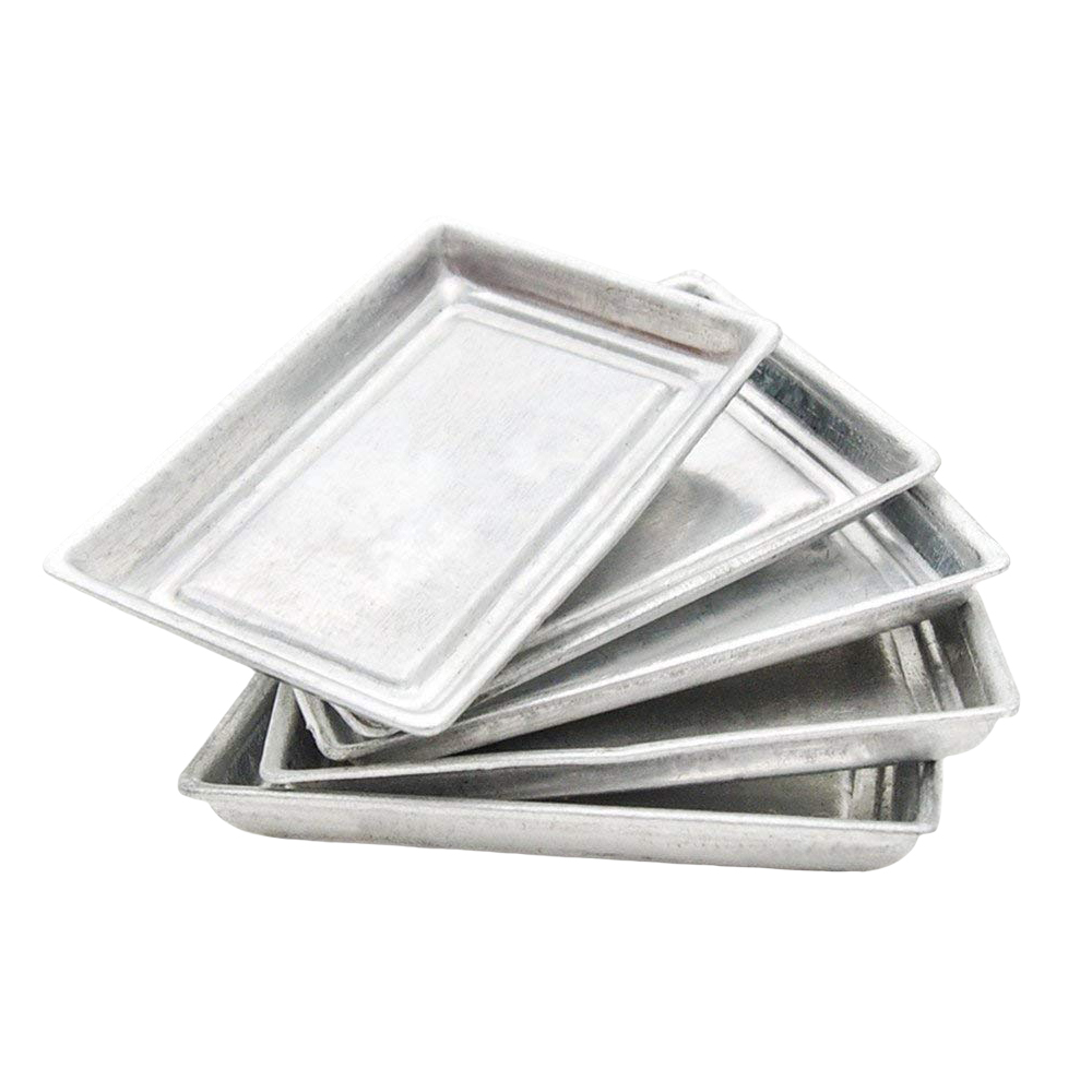 1:12 Miniature 5pcs Toaster Oven Pan Baking Tray Set Kitchen Tableware Dollhouse