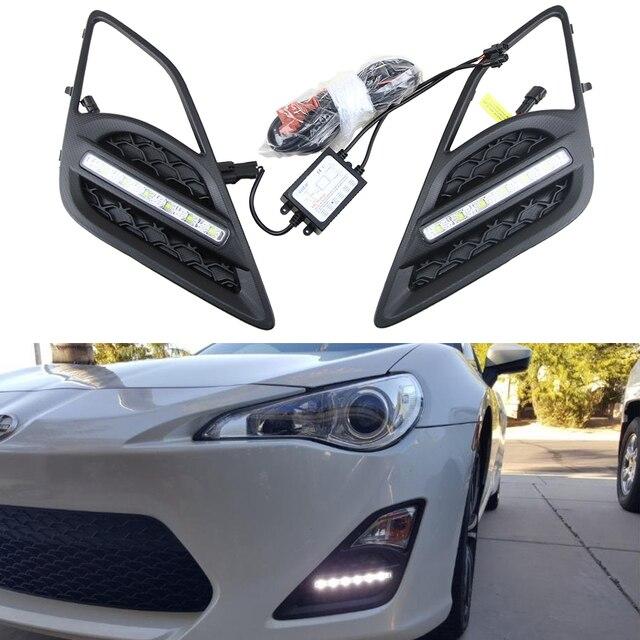 12v 6w 2 Xenon White Drl Fog Light Lamp For Toyota Gt86 For S Ubaru
