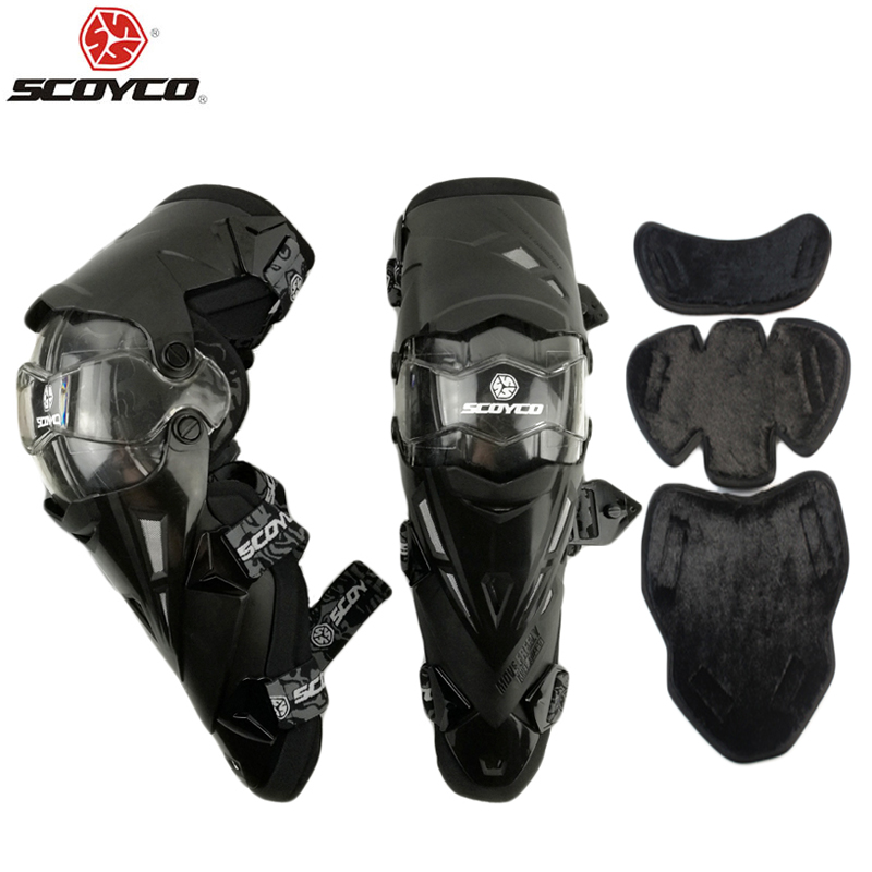 Adult Motorcycle Racing Knee Pad Protective Gear Guard Protector SCOYCO K12