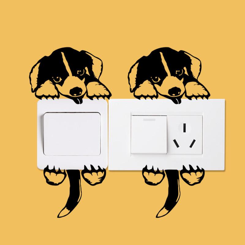 DIY Funny Cute Black Cat Dog Rat Mouse Animls Switch Decal Wall Stickers DIY Funny Cute Black Cat Dog Rat Mouse Animls Switch Decal Wall Stickers HTB1PYWfJVXXXXcZXpXXq6xXFXXX7