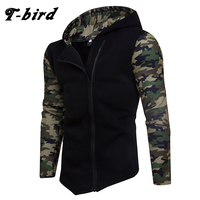 T Bird 2018 Hoodie Men Cardigan Camouflage Hip Hop Sweatshirt Men S Hoodies Winter Fashion Oblique