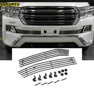 Luhuezu Aluminium Alloy Racing Grille Cover Front Bumper Grille Cover For Toyota Land Cruiser 200 Accessories 2012-2017