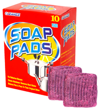 Steel Wool Soap Pad Exempt Detergent  with Pure Natural Plant Soap Powder  Red10/16 pieces