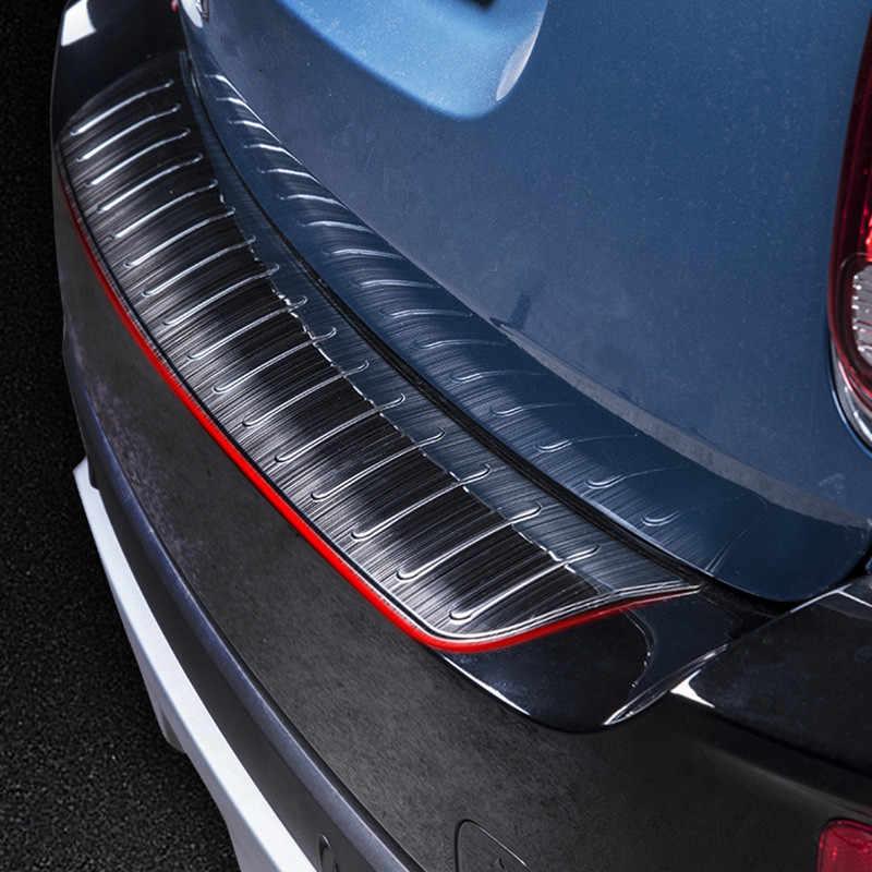 Protector trasero del coche cubierta de parachoques trasero del maletero extremo exterior ajuste de la placa del Sill Protector de la etiqueta protectora para Mini Cooper F60 countyman 2017