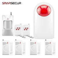 Smarsecur 433MHZ Home Alarm System Waterproof Wireless Outdoor Siren Sensor Kit For Home Security Protection P747