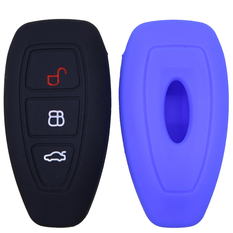 3 buttons silicone remote car key cover shell case set holder for Ford Mondeo keyless skin protect accessories(China)