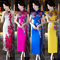 2016 winter chinese oriental styled dresses women sexy chinese dresses qi pao ladies sexy cheongsam traditional chinese dress