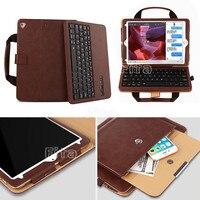 New Brand Portable Handbag For IPad 9 7 Mini Handle Handbag Magnetic Leather Stand Keyboard Case