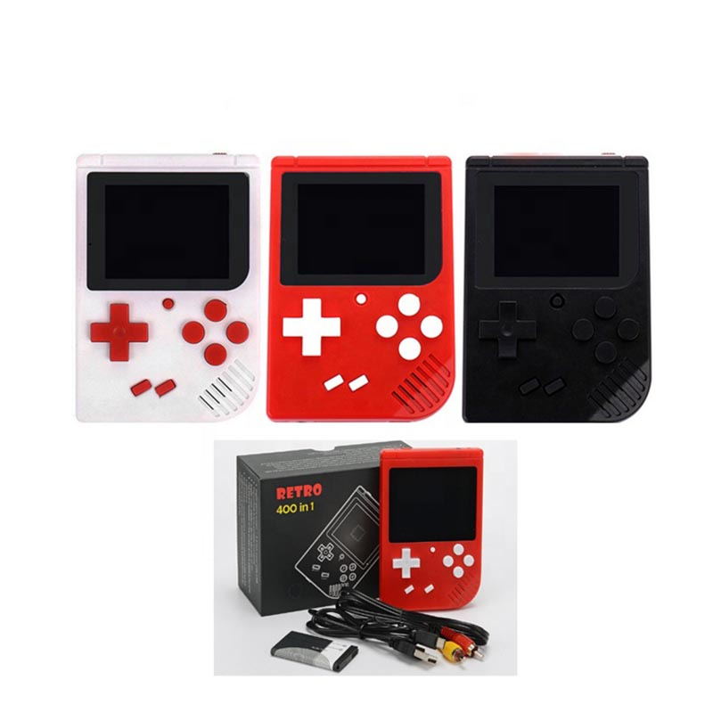 Portable Mini Classic Handheld Game Player Retro TV Video Games Console Family Recreation 8 bit built-in 400 Games 3.0 Inch