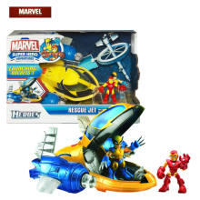 30cm Spiderman Marvel Avengers Super heroes Iron Man Wolverine Modelo de Avião de Resgate Spaceship PVC Action Figure Brinquedos para Meninos Presentes(China)