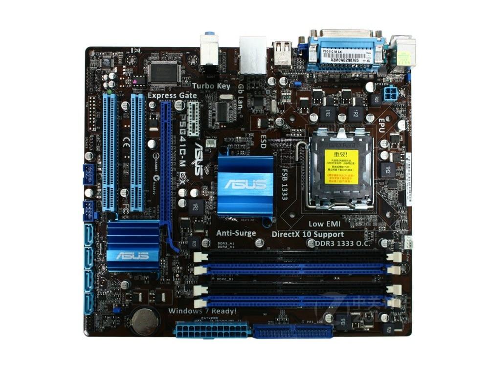 ASUS DDR2 Lga 775 DDR3 Desktop P5G41C-M LX Solid All Original