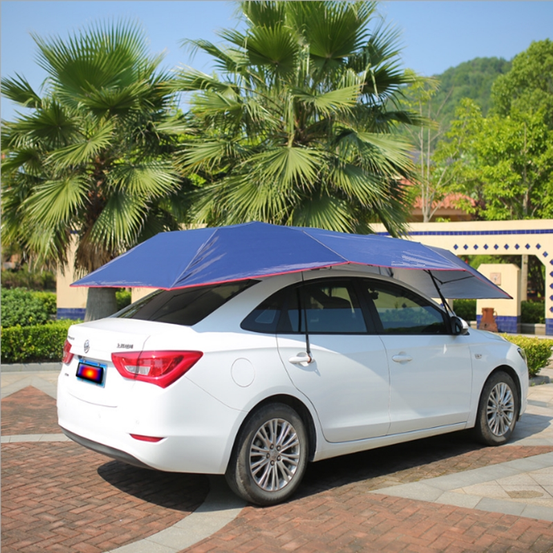 Outdoor Automatic Waterproof Car Umbrella Automobile Cover Remote Control Portable