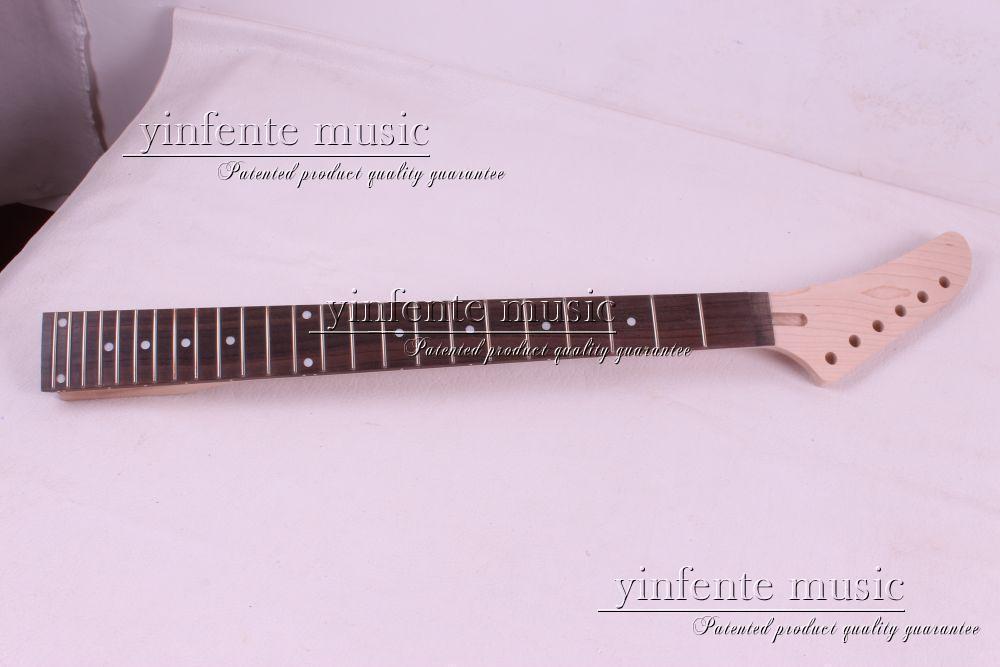 Один шт электрический шеи гитара высокое качество клен с палисандровой накладкой