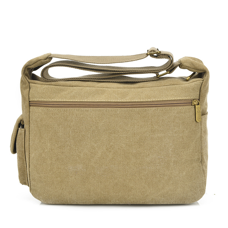 Men and women retro style multi color casual shoulder bag fine canvas diagonal package hardware accessories zipper handbag in Crossbody Bags from Luggage Bags