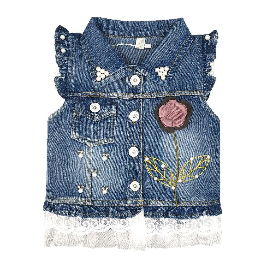 397ed8f49 1 5T Baby Jeans Vest Babe Jeans Jacket Denim Outerwear Children ...