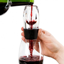 Wine Decanter Silicone Wine Glass Red Wine Aerator Filter Practical Fast Wine Magic Decanter Bar Tool Kitchen Tool itop handmade household red wine decanter wood decanter 6 seconds wine processors with battery