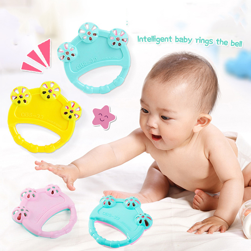 Infant Baby Cute Cartoon Teethers Rattles Training Toys Kids Safety For Infant Teething Newborn Random Colors M