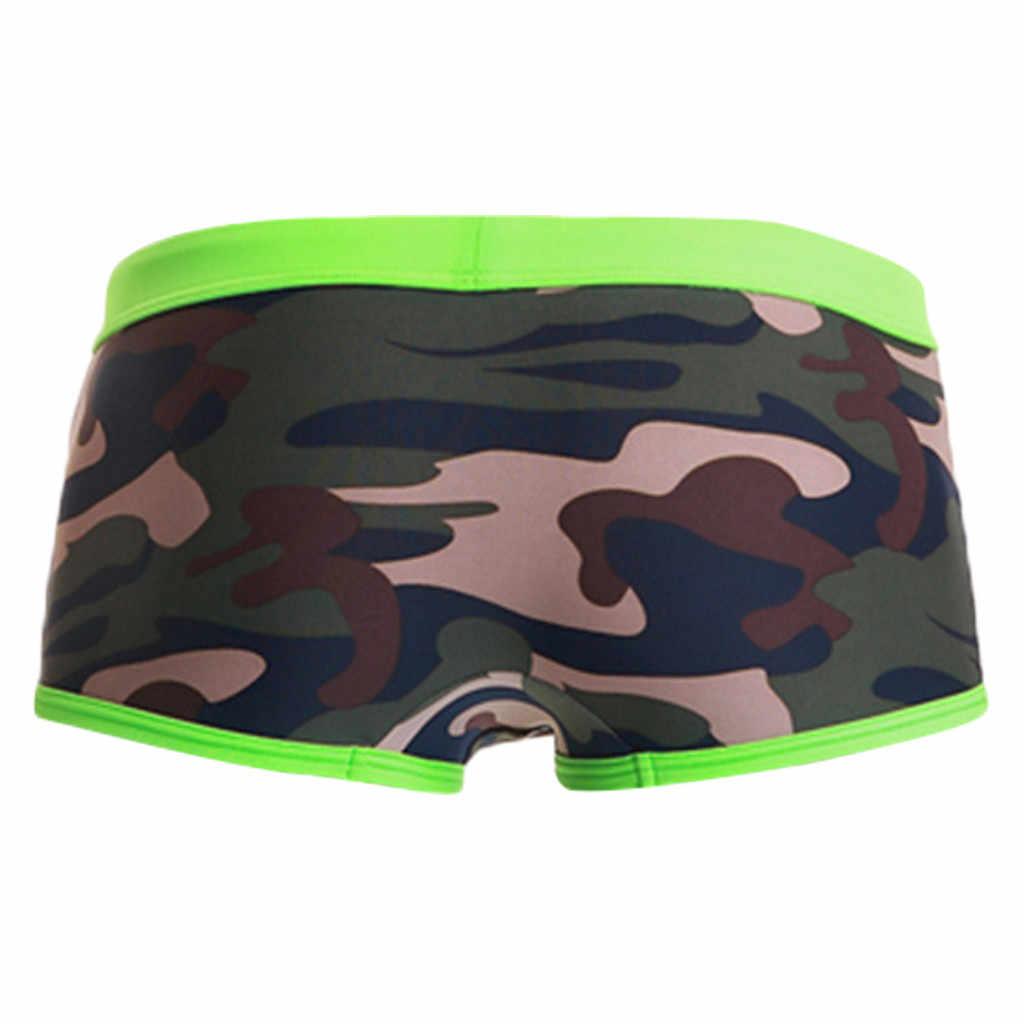 d8a3a299957f6 ... Men's Shorts Camouflage trouse Underpants Swimwear Push-Up Man Swimsuit  low waist sexy Swim sport