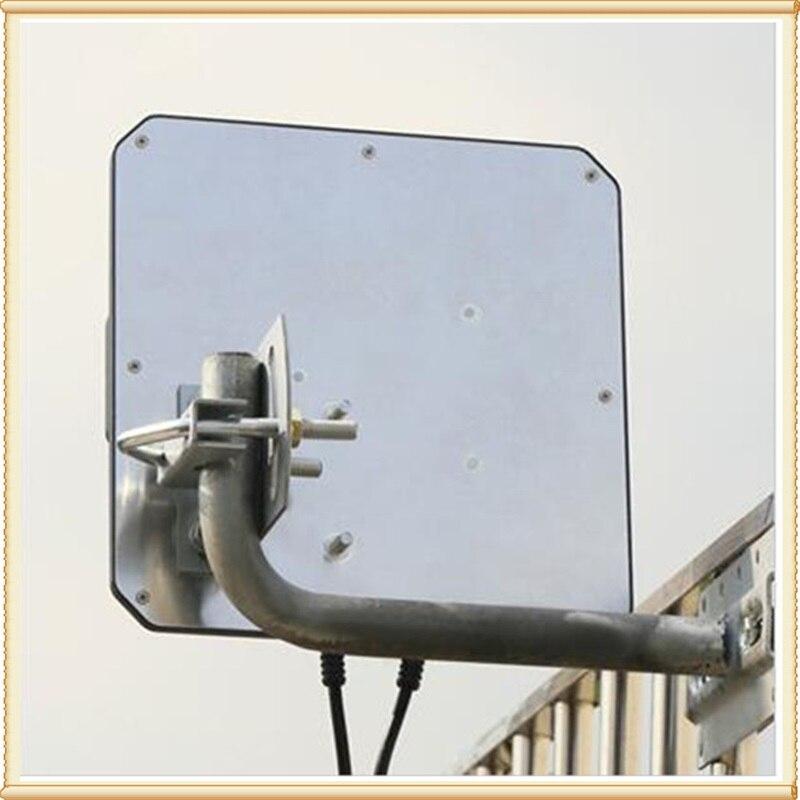 2 * 22dBi extérieur 4G LTE MIMO antenne, LTE double polarisation panneau antenne SMA-mâle connecteur (blanc ou noir) 10 M câble - 2