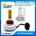 Envío gratis 2 unids * 40 W 6000LM Auto decretos LED de haz simple H8 All in One linterna del coche del bulbo de conducción de niebla de aluminio de la lámpara 6000 - 6500 K