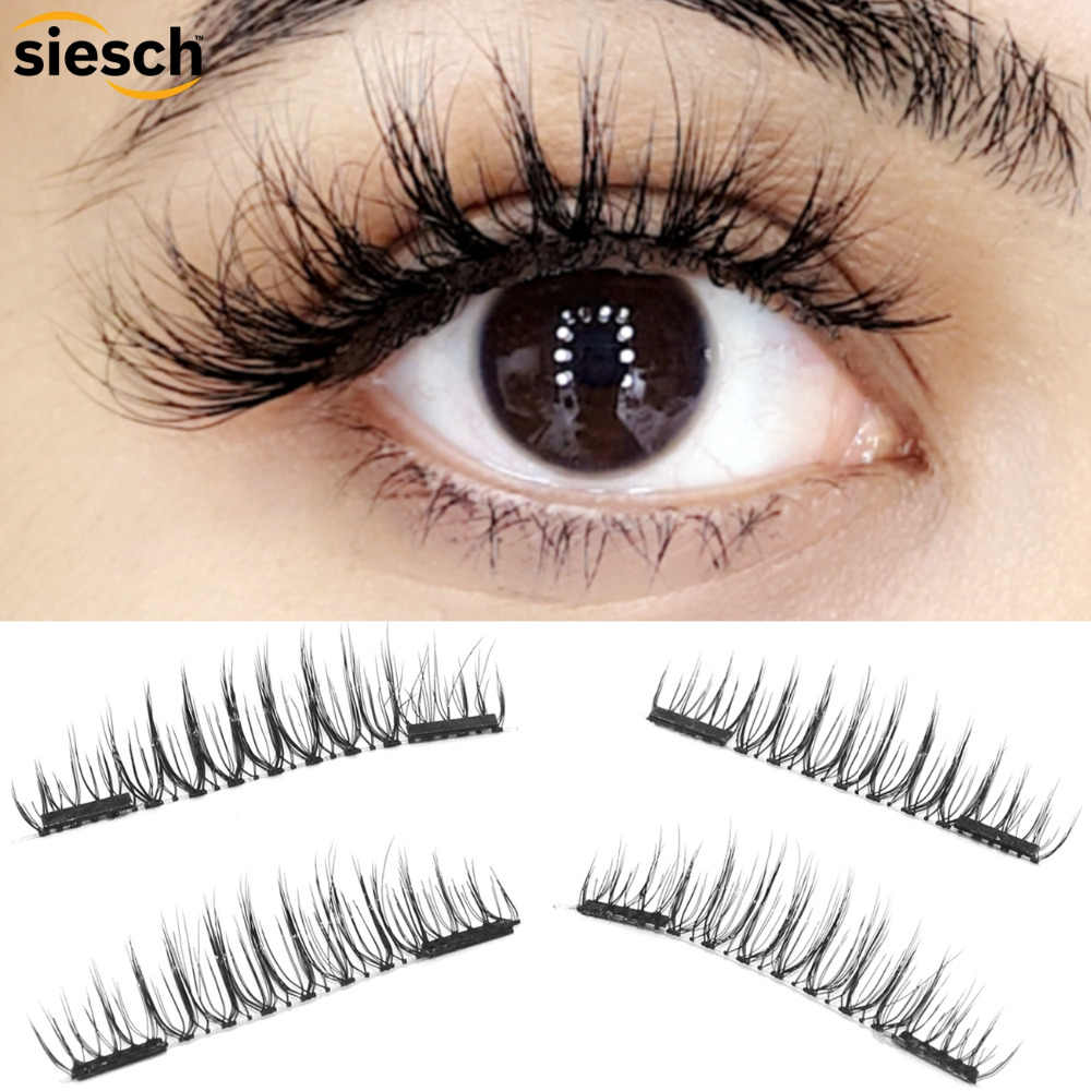 c55a14ae7b0 Detail Feedback Questions about 4pcs/Pair 3D Mink Lashes Magnetic ...