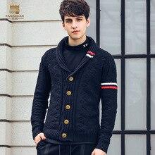 Fanzhuan,, новая мода, весенний мужской короткий кардиган на осень и зиму, персонализированный жаккардовый свитер, 825198