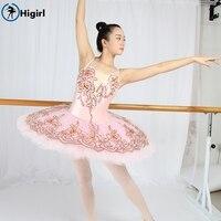Higirl Pink Ballet Tutu Dress Girls Gymnastics Leotard Dancewear Ballet Clothes Children Ballerina Costume Discount Ballet