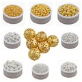4 6 8 10 12 mm Gold  Silver Plated Alloy Fine Space Loose Hollow Beads Charms Free Shipping Wholesale ly
