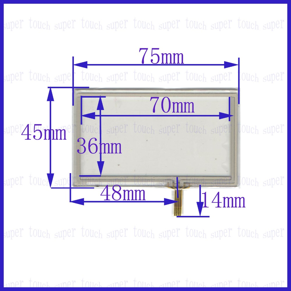 Купить с кэшбэком ZhiYuSun 75mm*45mm 3.2inch resistance touch screen sensor 75*45 for display touch glass welding typee 3219