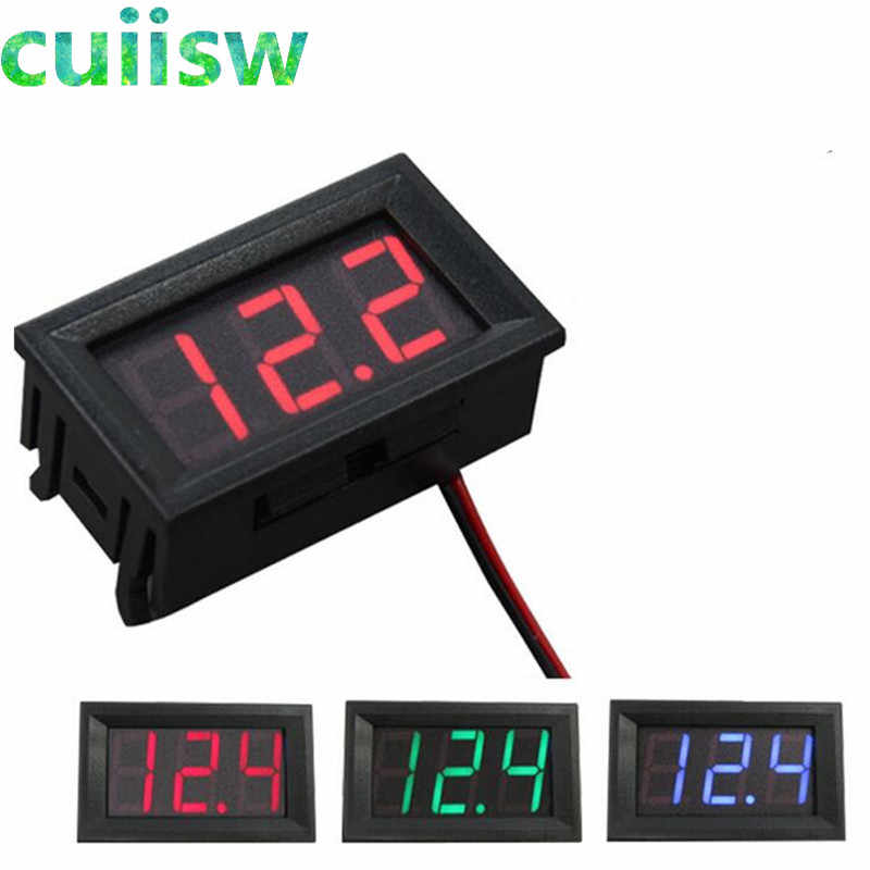 Digital Voltmeter DC 4.5V to 30V Digital Voltmeter Voltage Panel Meter Red/Blue/Green For 6V 12V Electromobile Motorcycle Car