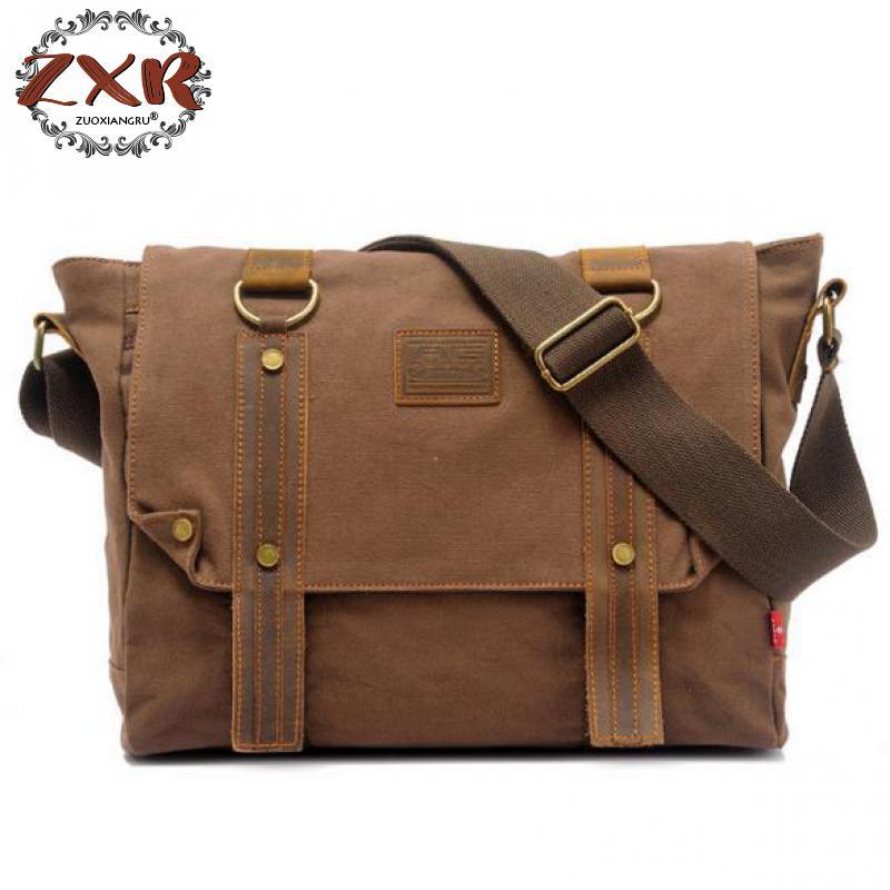 Shoulder Bags For Men Casual Vintage Multifunction Trunk Men's Business Messenger Bag Male Canvas Travel Crossbody Bag все цены