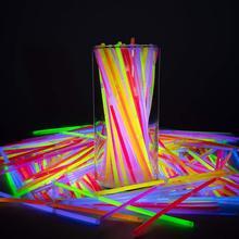 100 Pc Stick Christmas Party Neon Glowstick Light Kids Funny