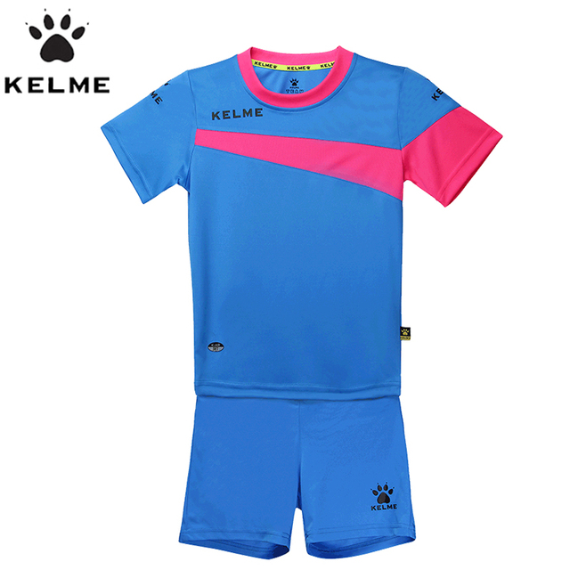 c3ed5154ce0 KELME Children Soccer Sets Boys Football Jerseys Clothing Set 2pcs  Sportswear Suit For Kids Uniform Survetement Sports K15Z253