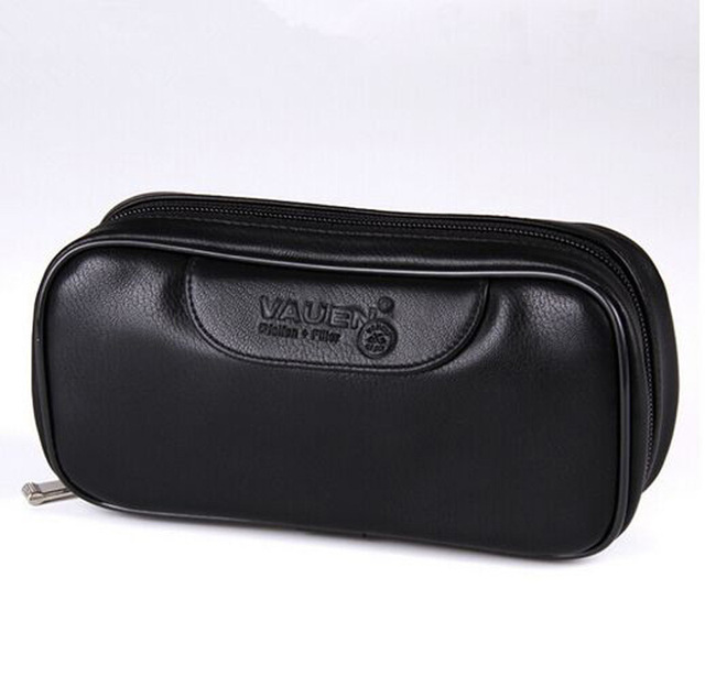 Soft PU Leather Bag Clutch for 2 Pipes Portable Weed Tobacco Smoking Pipe Case/Pouch Smoking Tools Accessories black and brown