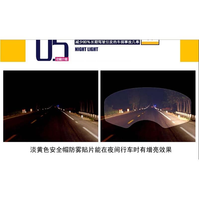 UNIVERSAL MOTORCYCLE CRASH HELMET ANTI FOG MIST FOGGY VISOR ULTRA CLEAR INSERT