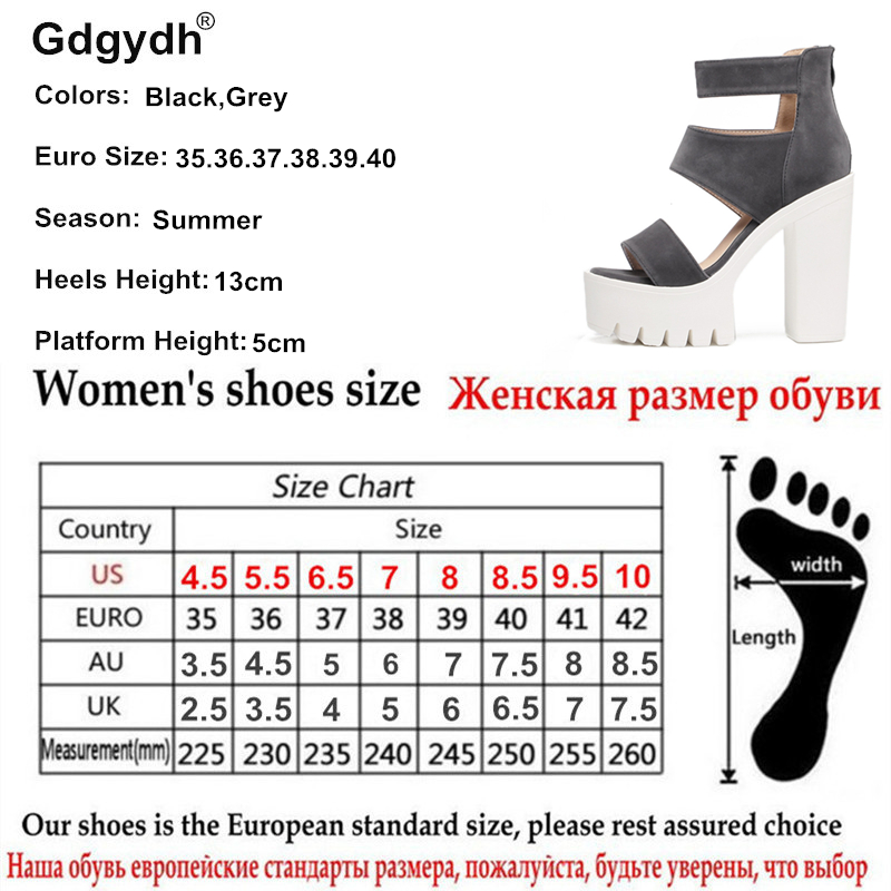 84037f06040c Gdgydh Fashion Summer Shoes Gladiator Women Sandals Casual Cut outs Open Toe  Thick Heels 13cm Female Gladiator Shoes High Heels-in High Heels from Shoes  on ...